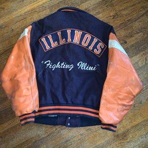 Vintage 80s Illinois Wool Varsity Jacket